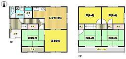 [一戸建] 大阪府箕面市箕面2丁目 の賃貸【/】の間取り
