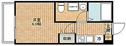 神奈川県川崎市高津区新作5丁目の賃貸アパートの間取り