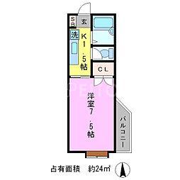 ミッシングN.M[1階]の間取り