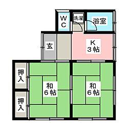 [一戸建] 宮城県仙台市青葉区木町 の賃貸【/】の間取り