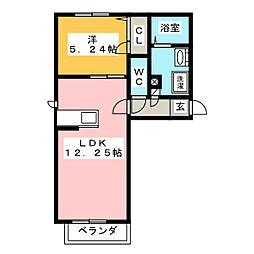 サンブリエ[2階]の間取り