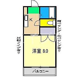 エトワール弥生町[3階]の間取り
