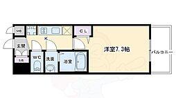 プレサンスTHE KYOTO 流雅 5階1Kの間取り