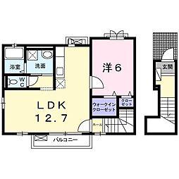 ハーモニーガーデン小文字Ⅱ[2階]の間取り