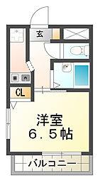 YKハイツ星陵台[2階]の間取り