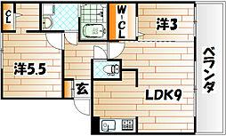 FK ROCK[3階]の間取り