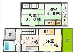 [一戸建] 兵庫県尼崎市上ノ島町2丁目 の賃貸【/】の間取り