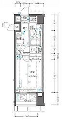 ZOOM横浜関内 3階1Kの間取り
