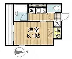 Garden Court 下北沢[2階]の間取り