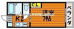 プリメゾン岡山津倉[4階]の間取り