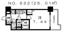 エスティライフ天王寺東[6階]の間取り