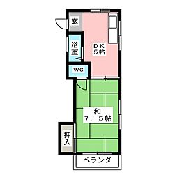 サンコーポ富善[2階]の間取り