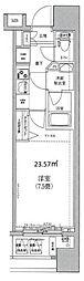 HY's Confront 横濱BAY 4階1Kの間取り