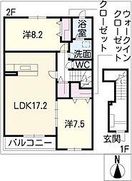 ザ・ロイヤルオーク[2階]の間取り