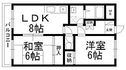 富士雁屋西マンション[0302号室]の間取り