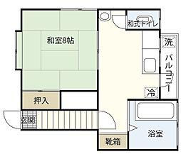 楽々園アパート[2階]の間取り