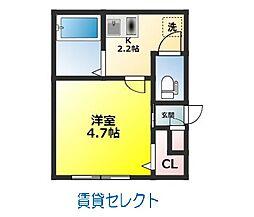 千葉県松戸市南花島中町の賃貸アパートの間取り