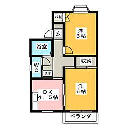 マンハイム笹野 A棟[2階]の間取り