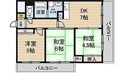 阪神ハイグレードマンション10番館[1階]の間取り