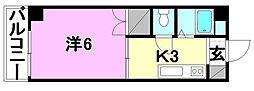 ハイム木屋町[105 号室号室]の間取り