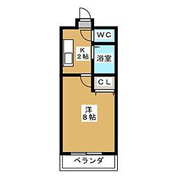 サンロイヤル藤ノ森[1階]の間取り