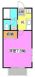 東京都練馬区南田中4丁目の賃貸アパートの間取り