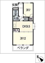 ツインホワイト[2階]の間取り