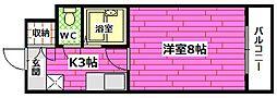 レジデンス京才[3階]の間取り