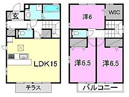 [テラスハウス] 愛媛県松山市居相6丁目 の賃貸【愛媛県 / 松山市】の間取り