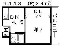 ネオシティ藤井寺[208号室号室]の間取り