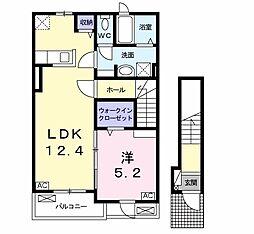 レジデンス江添I[2階]の間取り