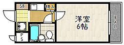 デトムワン嵯峨野路[209号室]の間取り