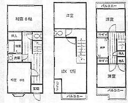 [一戸建] 大阪府堺市北区東雲東町2丁 の賃貸【/】の間取り