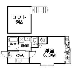 エーデル片江A棟[1階]の間取り