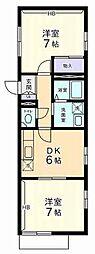 メゾンドフェルメール[2階]の間取り