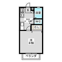 ライフベルク B[2階]の間取り