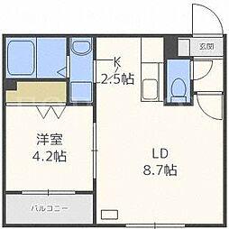 ミソノ ノームコア[2階]の間取り
