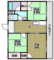 ガーデンハイツ飯坂I[5階]の間取り