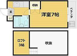 CIEUX(ショー)京都[4階]の間取り