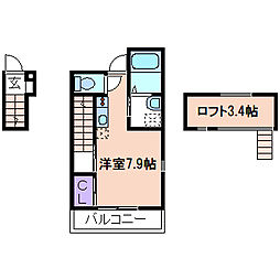 RiverainIII(リバレイIII)[2階]の間取り
