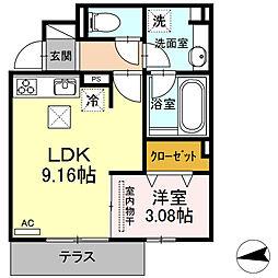 仮)D-room下中村町[102号室]の間取り