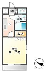 茨城県つくば市東平塚の賃貸アパートの間取り