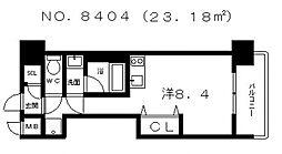 フロントフィールド天王寺 (B)[6階]の間取り