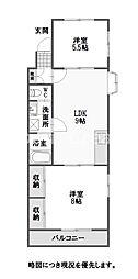 徳島県徳島市国府町和田字表の賃貸アパートの間取り