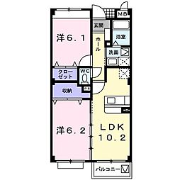 ベルヴェデール[3階]の間取り