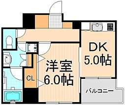 東京都台東区寿2丁目の賃貸マンションの間取り