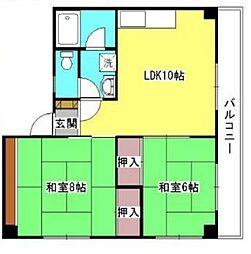 グランコート武庫之荘[102号室]の間取り