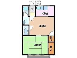 コーポ西別所[2階]の間取り