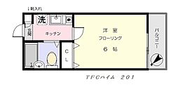 TFCハイム[201号室]の間取り