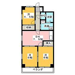 総業水戸第二ハイム[1階]の間取り